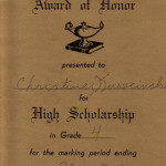 Honor Roll (Grade 4 1980)