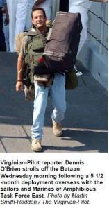 Dennis Leaving Iraq
