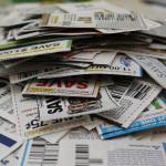 Coupon Pile Stock Photo