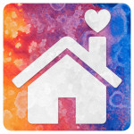 Abstract Acrylic Icon - Home is Where the Heart is